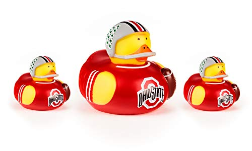 BSI NCAA Ohio State Buckeyes All Star Ducks, red, one Size (Pack of 3)