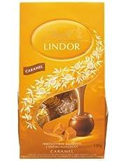 Lindt Lindor Caramel Milk Chocolate with Smooth Centre Box 150g