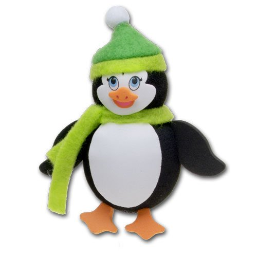 Tenna Tops Cute Penguin Car Antenna Topper / Antenna Ball / Mirror Dangler