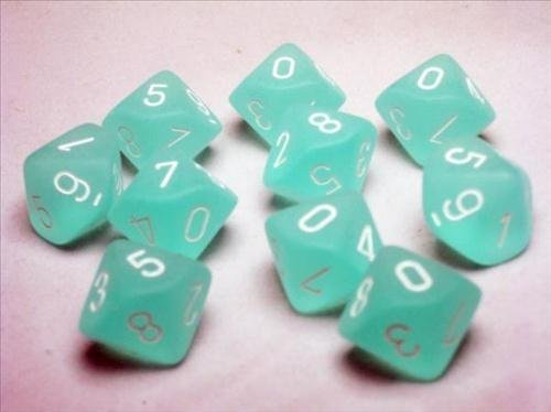 【SEAL限定商品】 Chessex Dice Sets: Frosted Teal Ten with d10 White - Chessex Ten Sided Die d10 Set (10) by Chessex [並行輸入品] B00TT85NH4, ネットショップ出島:8b3bc571 --- egreensolutions.ca