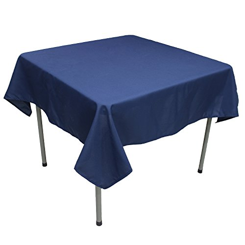 KAITATSU SEN Square Polyester Fabric Tablecloth, Navy Blue, 70-inch