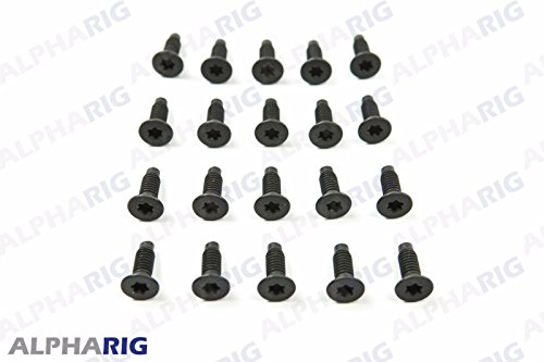 20 Black Torx Screws Windshield Frame Hinge 76-06 Fits Jeep Wrangler CJ YJ TJ (Windshield Wrangler Jeep Hinge)