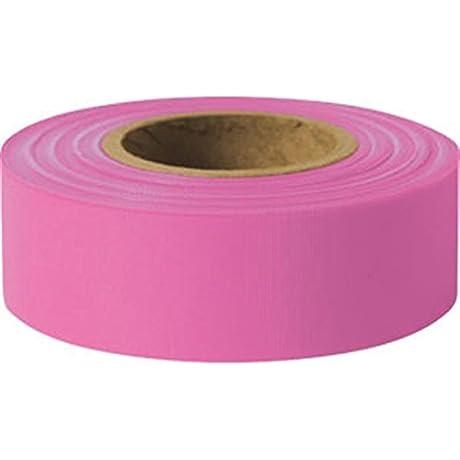 Presco Solid Color Roll Flagging Standard Taffeta 1 3 16 X 300 Pink 9 Pack