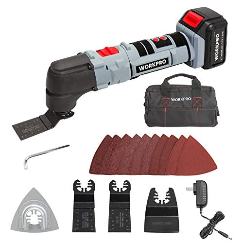 WORKPRO 20V Oscillating Multi-Tool Lithium-Ion Cordless with LED Variable Speed
