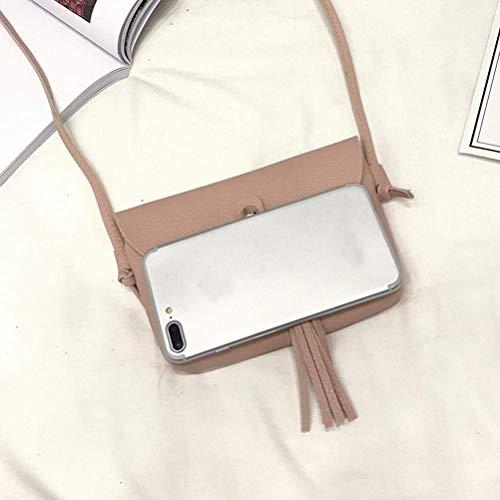 Moda Mini Borsa In Rosa Moontang Tracolla Nero Vintage Pelle grigio Dimensione Nappa Mano Piccola A Morbida Messenger colore UIxxPv