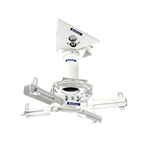 "QualGear Pro-AV QG-KIT-VA-3IN-W Projector Mount Kit Accessory Vaulted Ceiling Adapter, 3"" 1.5"", White"