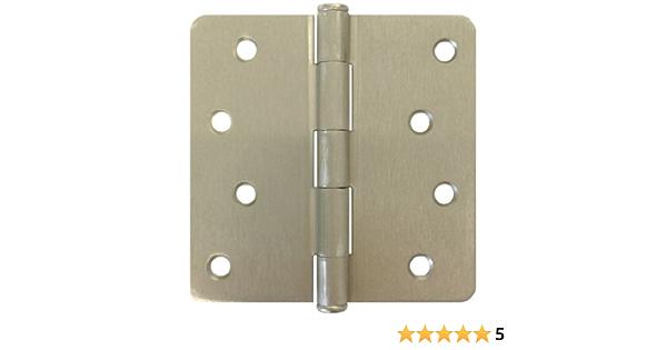 9 PCS Satin Nickel 4 X 4 1//4 Radius Exterior Door Hinges