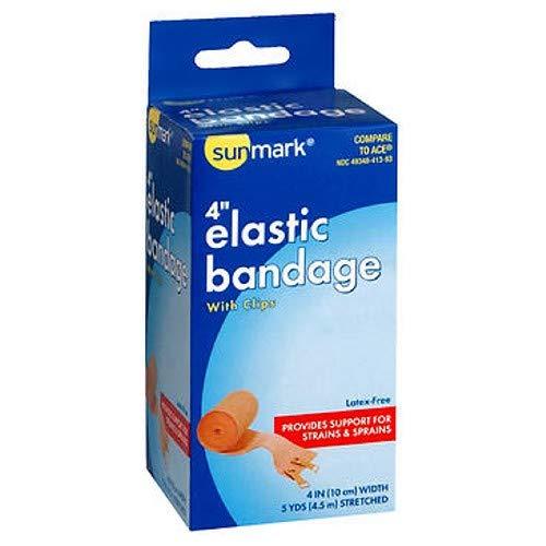Sunmark Sunmark Elastic Bandage With Clips, 4'' 1 each