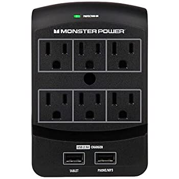 Amazon Com Monster Power Home Office 650 Usb 6 Outlets