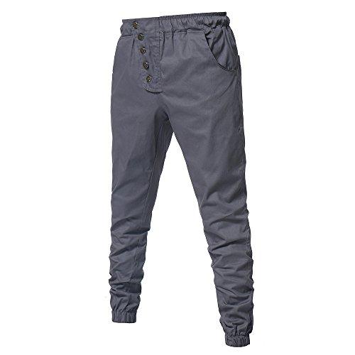 Pants Trousers Stretchy Pantalon De Skinny Décontracté Loisirs Slim Sport Tout Homme Droit Gris Pantalons Fit Business Luoluoluo fq4Iw