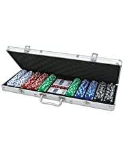 CQ 500 11.5g DICE Poker Chip Set in Aluminium Case (buttons, cards + dice)