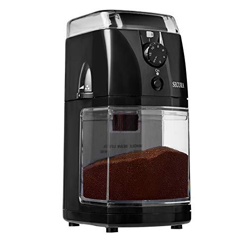 Secura SCG-903B Automatic Electric Burr Coffee Grinder Mill 2 Year Warranty