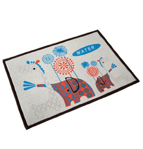 PANDA SUPERSTORE Bedroom Carpet Kitchen Bathroom Non-slip Cotton Door Mat (40 By 60cm) Elephant