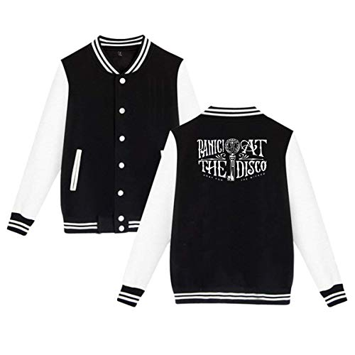 MyLoire Panic at The Disco Unisex Baseball Jacket Uniform Sweater Coat L ()