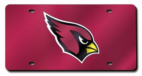 Arizona Cardinals License Plate Cover - Laser Cardinals Arizona Red