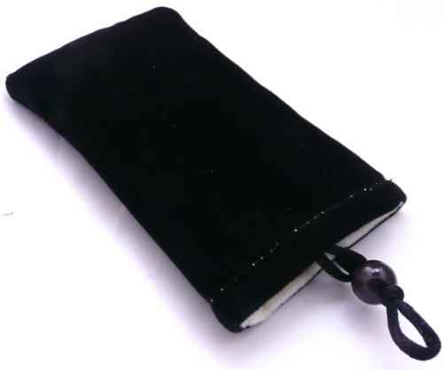 Emartbuy® Prima Negro Velour Super Slide Soft En La Bolsa / Caja / Carcasa / Cubierta Adecuada Para Sony Xperia E