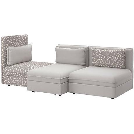 Ikea 3 Seat Sleeper Sectional Orrsta Light Gray Funnarp Black Beige 10204 20514 210