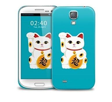 newest 309ba 5621e Lucky Cat Samsung Galaxy S4 GS4 protective phone case: Amazon.co.uk ...