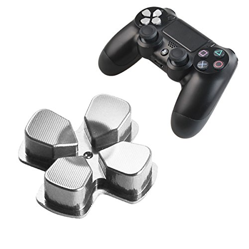 Buttons Aluminum Custom Metal Playstation 4 DualShock 4 Replacement Buttons Spare Parts Accessories for PS4 Mods Controllers Bullet Silver (Custom Bullet)