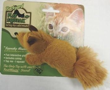Amazon.com: Mascota play-n-squeak Juego de Patio para gato ...