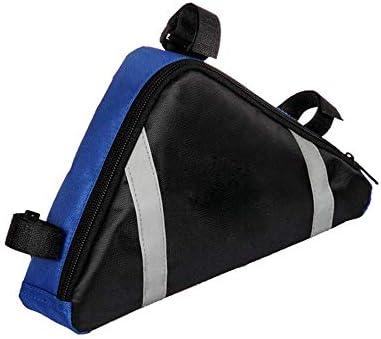 自転車バッグ 自転車トップチューブバッグ フレームバッグ 屋外MTBロードバイク用自転車フレームバッグサイクリングトライアングルパック 適用 旅行/アウトドア/スポーツ/遠足など (Color : Blue black, Size : 23*20*6cm)