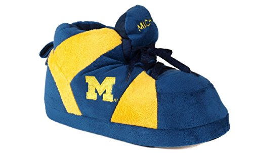 Womens Wolverines Slippers Happy Feet Michigan NCAA Officially Men's College Licensed Sneaker and ttFgq