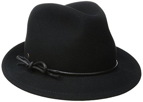 Karen Kane Women's Snapback Felt Fedora Black Hat MD/LG (Felt Sombrero)