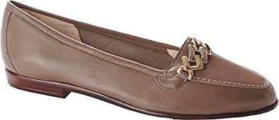 Amalfi by Rangoni Women's Oste Loafers,Dark Taupe Nappa,12 S US