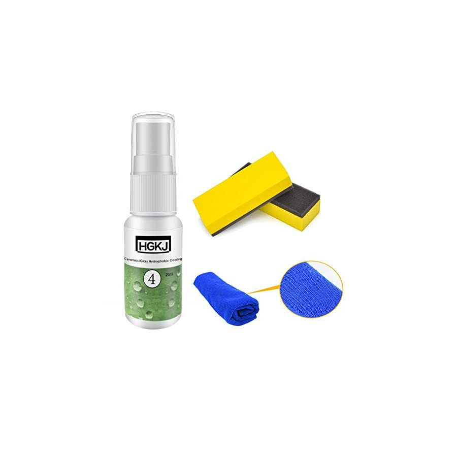 Staron High Gloss Ceramic Car Coating Kit, Car Windshield Liquid Ceramic Coat Super Hydrophobic Glass Coating Cleaning
