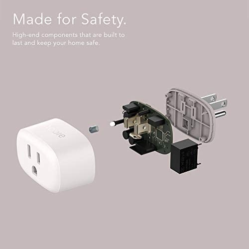 Nooie Smart Plug Mini Smart Socket Compatible With Alexa, Google Assistant, No Hub Required. Child Lock Function Schedule Timer Function FCC ETL Certified White Wifi Outlet(2packs)