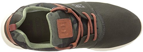 Dc Mens Heathrow Se Skate Scarpa Da Skateboard Militare
