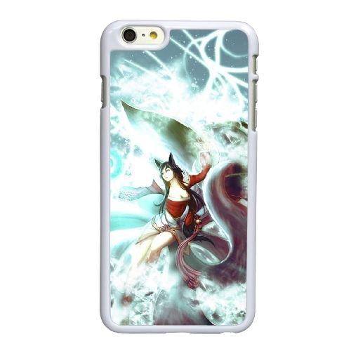 X2J89 League of Legends Ahri D3P7TU coque iPhone 6 Plus de 5,5 pouces cas de téléphone portable couverture de coque blanche DF8LNP9JU