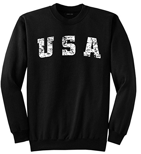 Graphic Crew Neck Sweatshirt - Joe's USA tm Vintage USA Logo Crewneck Sweatshirt in Size-L