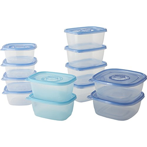 Review Of Glad Food Storage Containers - Large Food Container Variety Pack - 12 Containers - 24 Piec...