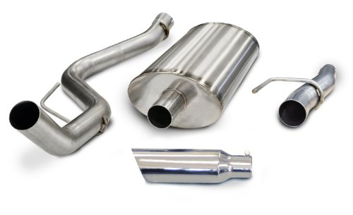 s Steel Single Side Exit Cat-Back Exhaust System Kit for Ford F150 5.0L ()
