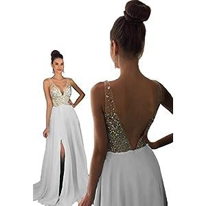 HEAR Women's V Neck Long Prom Dresses Backless Party Evening Dress Hear051