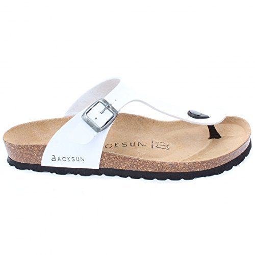latest fashion thoughts on sells Backsun - Tongs/Sandales - Singapore Homme Blanc Semelle ...