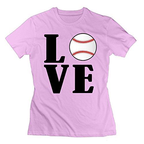 Erjran Love Baseball Women's Soft Short Sleeve T Shirt Color Pink Size (Toys R Us Albany Ny)