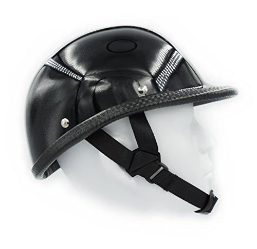 - Hot Rides Classic Chopper Biker Motorcycle Helmet Novelty For Cruiser Harley Scooter ATV Hawk Gloss Black (Small)