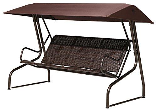 bukatchi polyrattan 3 sitzer hollywoodschaukel monte carlo in moccabraun kaufen. Black Bedroom Furniture Sets. Home Design Ideas