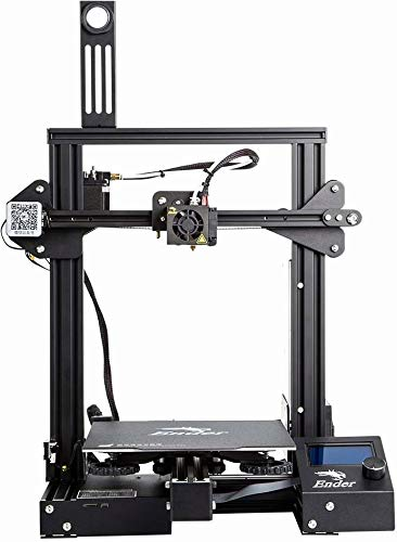WOL 3D WOL3D Ender 3 Pro 3D Printer with Upgrade Cmagnet Build Surface Plate and ul Certified Power Supply, 8.6 x 8.6 x 9.8-inch