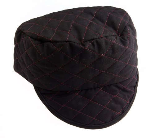 Forney 55854 Skull Cap, 7-1/4-Inch, Black with Red Lining