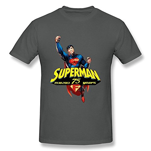 [Hsuail Men's Superman T-Shirt DeepHeather US Size XXL] (Super Nerdy Costume)