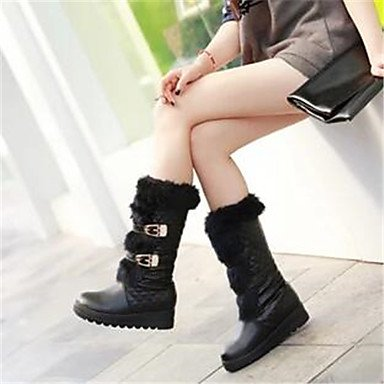 Boots Snow White Boots Women's Comfort Snow Under Winter PU Boots White Comfort Black Casual 1in 4tqat