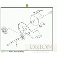 Sparepart: HP Paper pickup motor assembly, RM1-2189-000CN