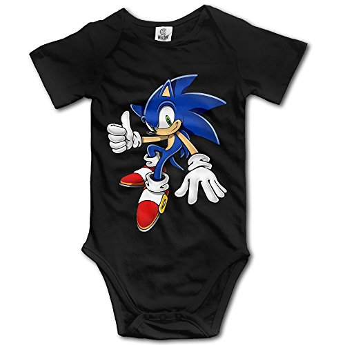 MOMI&BB Baby Boys Girls Onesie Sonic The Hedgehog Short Sleeve Bodysuits Romper Jumpsuit (Sonic Custome)