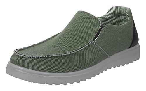 iLoveSIA Mens Comfort Slipon Cavans Daily Casual Loafer Shoes Khaki US size 10.5