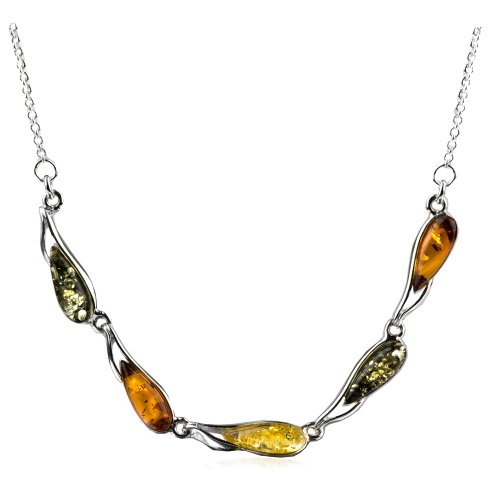 - Sterling Silver Multicolor Amber Dreams Necklace