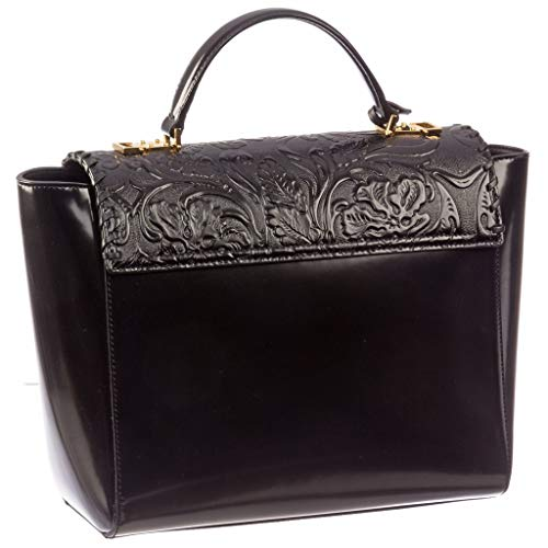 DVRNX Medusa Versace Women's Black Buckle DP8E592 Leather Clutch D410C Patent 5q0TU0xwC
