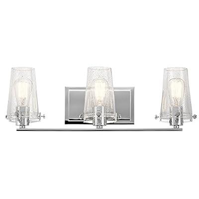 Bathroom Vanity 3 Light with Chrome Finish Steel Material Medium 24 inch 300 Watts